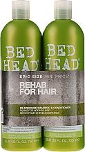 Düfte, Parfümerie und Kosmetik Haarpflegeset - Tigi Bed Head Rehab For Hair Kit (Shampoo 750ml + Conditioner 750ml)