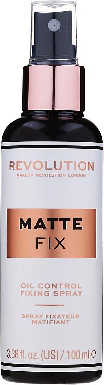 Make-up-Fixierer - Makeup Revolution Matte Fix Oil Control Fixing Spray