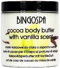 Düfte, Parfümerie und Kosmetik Feuchtigkeitsspendende Körperbutter mit Vanille und Kakaobutter - BingoSpa Cocoa Butter, Vanilla Body