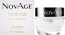 Düfte, Parfümerie und Kosmetik Verjüngende Augen- und Lippenkonturcreme - Oriflame NovAge Time Restore Eye & Lip Cream