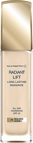 Langanhaltende Foundation mit Hyalurönsäure und hautglättenden Mikroperlen LSF 30 - Max Factor Radiant Lift Foundation