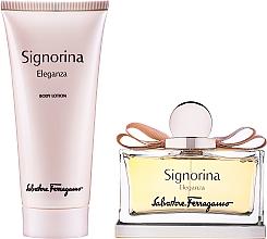 Düfte, Parfümerie und Kosmetik Salvatore Ferragamo Signorina Eleganza - Duftset (Eau de Parfum 100ml + Körperlotion 100ml)