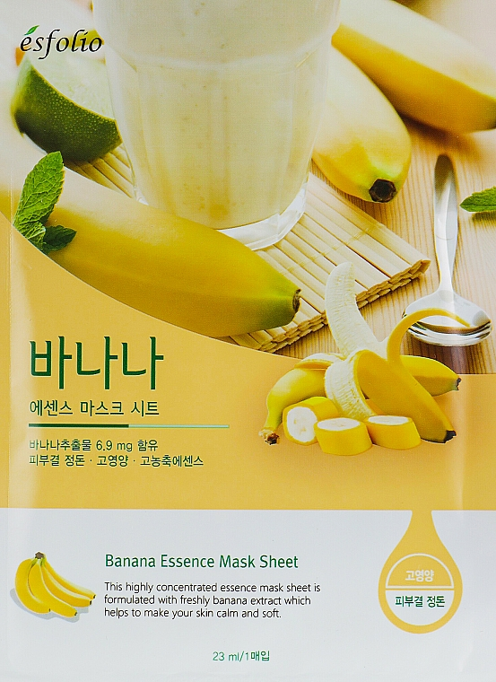 Tuchmaske für das Gesicht mit Bananenextrakt - Esfolio Essence Mask Sheet