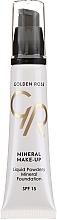 Düfte, Parfümerie und Kosmetik Flüssige Mineral-Foundation mit Vitaminen A & E LSF 15 - Golden Rose Liquid Powdery Mineral Foundation