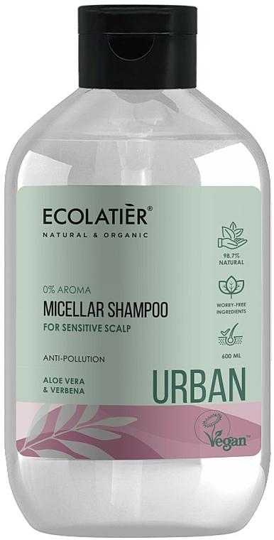 Mizellen-Shampoo für empfindliche Kopfhaut mit Aloe Vera und Eisenkraut - Ecolatier Urban Micellar Shampoo