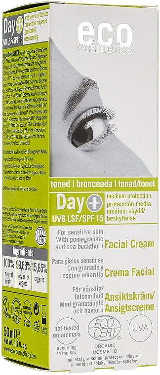 Getönte Gesichtscreme mit Lichtschutz SPF 15 - Eco Cosmetics Facial Cream SPF 15 Toned