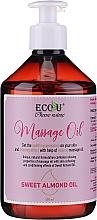 Düfte, Parfümerie und Kosmetik Aufweichendes Massageöl mit Süßmandelöl - Eco U Massage Oil Sweet Almond Oil