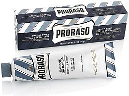 Düfte, Parfümerie und Kosmetik Rasiercreme mit Aloe und Vitamin E - Proraso Blue Shaving Cream