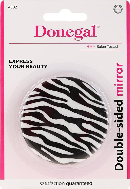 Doppelseitiger Taschenspiegel Zebra - Donegal Mirror — Bild N1