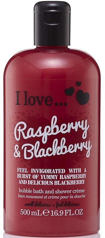 """Badeschaum und Duschcreme """"Raspberry & Blackberry"""" - I Love... Raspberry & Blackberry Bubble Bath And Shower Creme"""