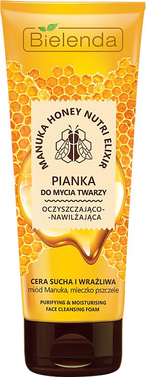 Gesichtsreinigungsschaum - Bielenda Manuka Honey Nutri Elixir Facial Foam