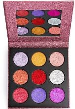 Düfte, Parfümerie und Kosmetik Lidschattenpalette mit Glitzer - Makeup Revolution Pressed Glitter Palette Diva