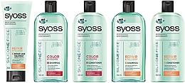 Stärkender und regenerierender Conditioner für normales und strapaziertes Haar - Syoss Silicone Free — Bild N3