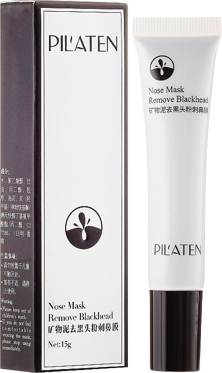 Reinigende Nasenmaske gegen Mitesser mit Mineralschlamm - Pilaten Remove Blackhead Nose Mask