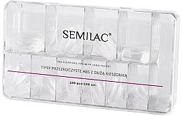 Düfte, Parfümerie und Kosmetik Nagel-Tips transparent - Semilac Tips Box 120 Tips