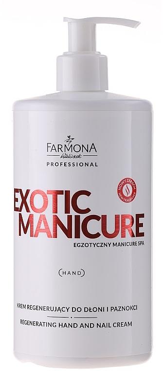 Regenerierende Hand- und Nagelcreme für trockene und raue Haut - Farmona Exotic Manicure SPA