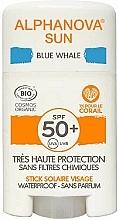 Düfte, Parfümerie und Kosmetik Sonnenschutzstick für das Gesicht SPF 50+ - Alphanova Sun Blue Whale SPF50+