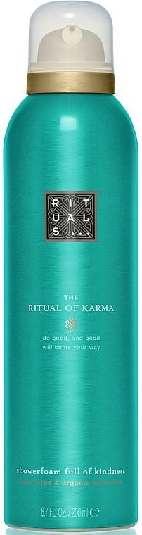 Duschschaum mit Lotosblume und Bio weißem Tee - Rituals The Ritual of Karma Foaming Shower Gel