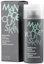 Düfte, Parfümerie und Kosmetik Erfrischendes Gesichtsreinigungsgel mit Pfefferminzöl, Klette und Alpenwermut - Dr. Spiller Manage Your Skin Refreshing Facial Cleanser