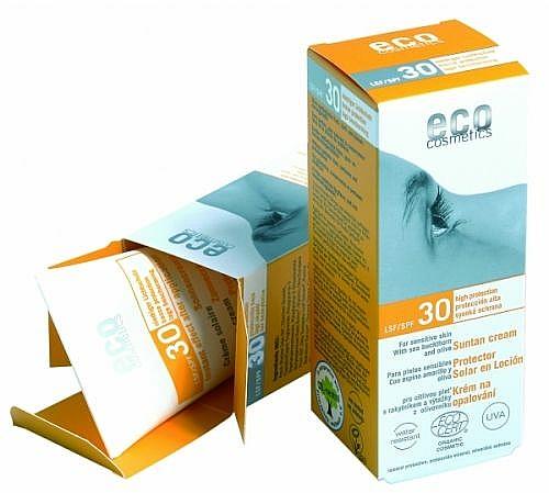 Sonnenschutzcreme mit Granatapfel- und Sanddorn-Extrakt SPF 30 - Eco Cosmetics Suntan Cream SPF 30