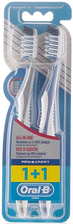 Zahnbürste mittel Pro-Expert grau und blau 2 St. - Oral-B Pro-Expert CrossAction All in One