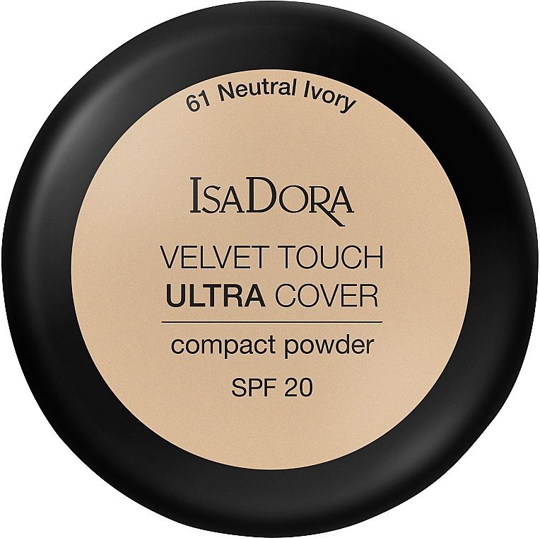 Kompaktpuder mit hoher Deckkraft LSF 20 - IsaDora Velvet Touch Ultra Cover Compact Powder SPF 20