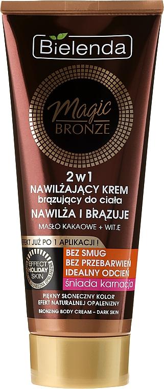 Selbstbräunungscreme für dunkle Haut - Bielenda Magic Bronze 2in1 Moisturizing Bronze Cream For Dark Skin