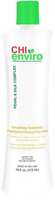 Glättende und stärkende Behandlung für hervorgehobenes, poröses und feines Haar - CHI Enviro American Smoothing Treatment