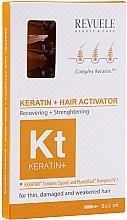 Düfte, Parfümerie und Kosmetik Regenerierendes und stärkendes Haarserum mit Keratin in Ampullen für dünnes, strapaziertes und schwaches Haar - Revuele Keratin+ Ampoules Hair Restoration Activator