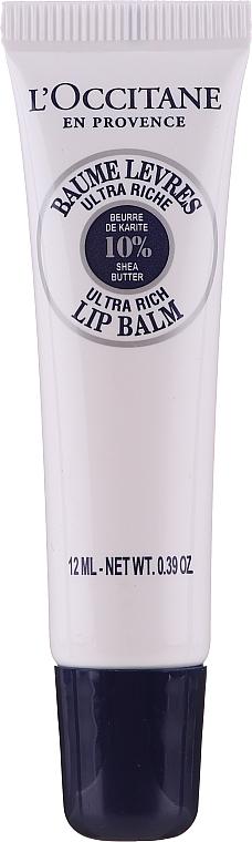 Feuchtigkeitsspendender Lippenbalsam mit Sheabutter - L'Occitane Lip Balm 10 % Shea Butter