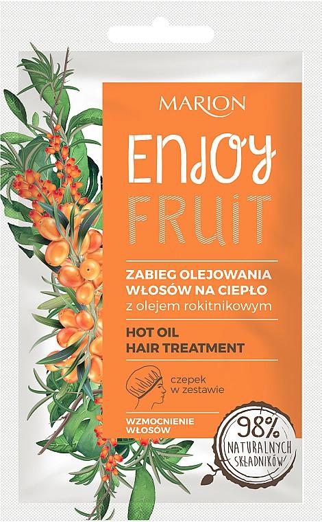Wärmebehandlung mit Sanddornöl für das Haar - Marion Enjoy Fruit Hot Oil Hair Treatment — Bild N1