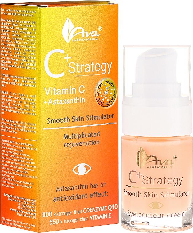Antioxidative Augenkonturcreme mit Vitamin C - Ava Laboratorium C+ Strategy Smooth Skin Stimulator Eye Contour Cream