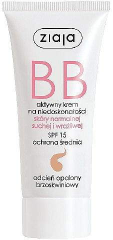 BB Creme für trockene, empfindliche und Normalhaut LSF 15 - Ziaja BB-Cream Opalony Brzoskwiniowy