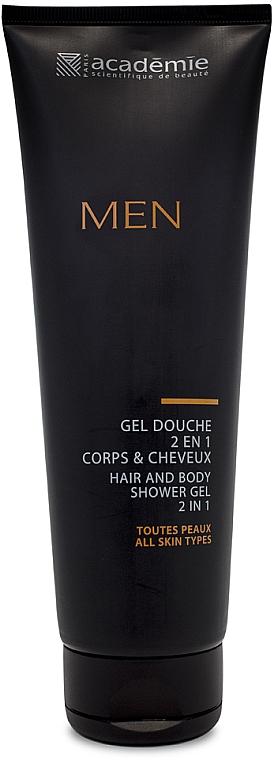 2in1 Duschgel für Männer - Academie Men Hair And Body Shower Gel 2 In 1