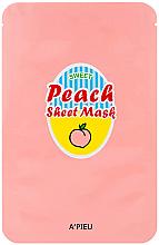 Düfte, Parfümerie und Kosmetik Regenerierende und glättende Tuchmaske mit Pfirsich- und Joghurtextrakt - A'Pieu Peach & Yogurt Sheet Mask