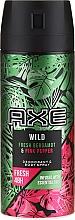 Düfte, Parfümerie und Kosmetik Deospray - Axe Wild Fresh Bergamot & Pink Pepper