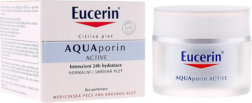Feuchtigkeitsspendende Gesichtscreme für normale bis Mischhaut - Eucerin AquaPorin Active Deep Long-lasting Hydration For Normal To Mixed Skin