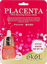 Düfte, Parfümerie und Kosmetik Anti-Aging Tuchmaske für das Gesicht mit Plazenta - Ekel Placenta Ultra Hydrating Essence Mask