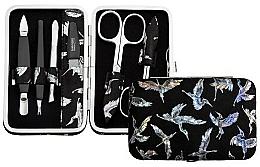 Düfte, Parfümerie und Kosmetik Maniküre-Set 6-tlg. schwarz mit silbernen Vögeln - DuKaS Premium Line PL 126FCP