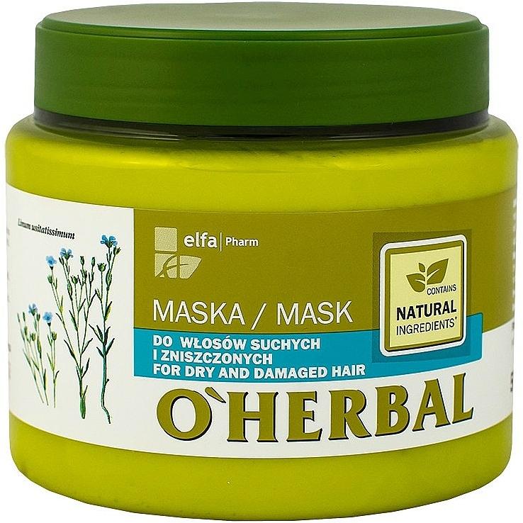 Maske mit Flachs-Extrakt für trockenes und strapaziertes Haar - O'Herbal