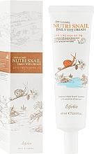 Düfte, Parfümerie und Kosmetik Nährende feuchtigkeitsspendende und vitalisierende Creme für die Augenpartie mit Schneckenschleimfiltrat - Esfolio Nutri Snail Daily Eye Cream