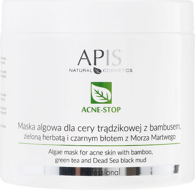 Anti-Akne Algenmaske mit Bambus, grünem Tee und schwarzem Schlamm aus dem Toten Meer - APIS Professional Algae Mask For Acne Skin