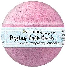 """Düfte, Parfümerie und Kosmetik Sprudelnde Badebombe """"Himbeere mit Traubenkernöl"""" - Nacomi Raspberry Bath Bomb"""