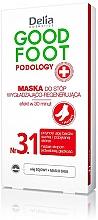 Düfte, Parfümerie und Kosmetik Glättende und regenerierende Fußmaske - Delia Cosmetics Good Foot Podology Nr 3.1