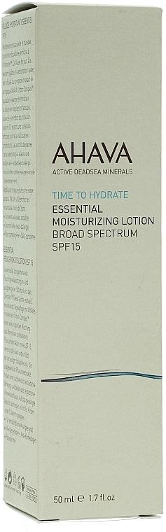 Feuchtigkeitsspendende Gesichtslotion SPF 15 - Ahava Essential Moisturizing Lotion Broad