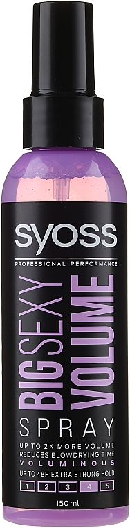 Volumen Haarspray - Syoss Big Sexy Volume Blow Dry Spray