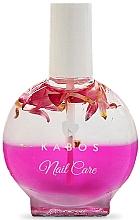 Düfte, Parfümerie und Kosmetik Regenerierendes 2-Phasen-Öl für Nägel und Nagelhaut Rosa Blumen - Kabos Nail Oil Pink Flowers