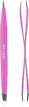 Düfte, Parfümerie und Kosmetik Professionelle Haarzupfpinzette mit Doppelspitze rosa - Beter Duply