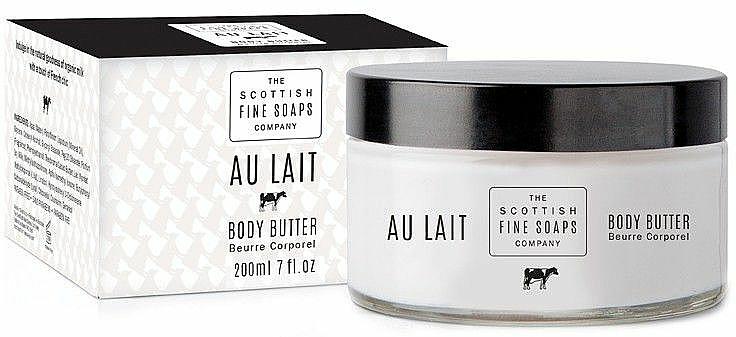 Reichhaltige Körperbutter für sehr trockene und schuppige Haut mit Milchprotein und Kokosnussbutter (im Glas) - Scottish Fine Soaps Au Lait Body Butter — Bild N1