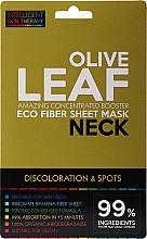 Düfte, Parfümerie und Kosmetik Aufhellende Tuchmaske für den Hals gegen Verfärbungen und Pigmentflecken mit Olivenblattextrakt - Beauty Face IST Booster Neck Mask Olive Leaf